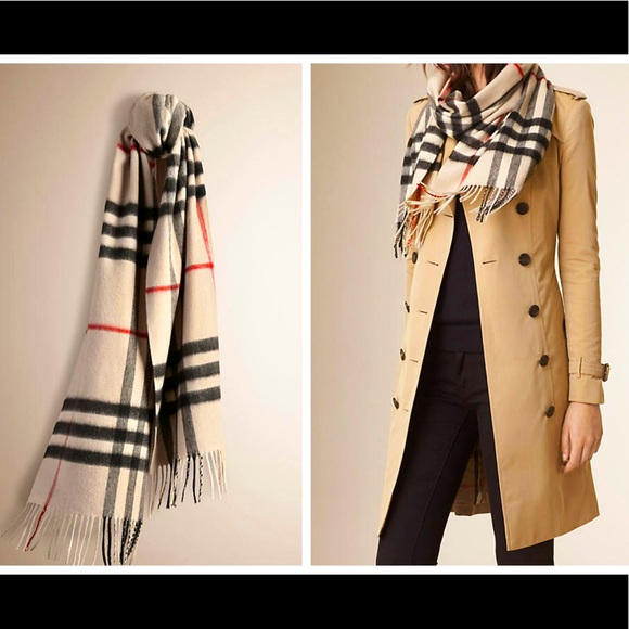 Burberry silk scarf Nova checker pattern beige